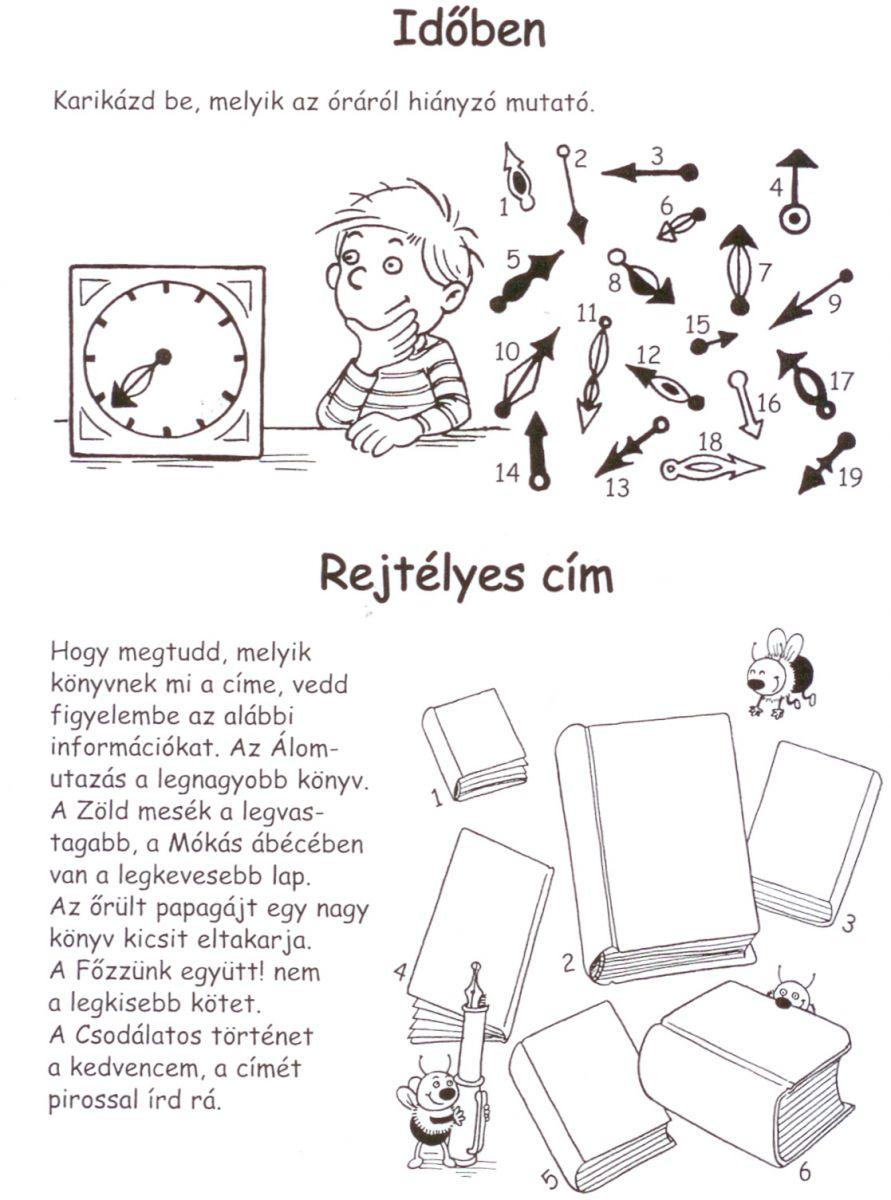 Fejtörők gyerekeknek nyomtatható